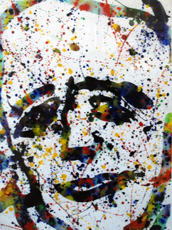Self Portrait 1974 29x22 Original Painting - Sam Francis