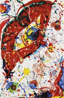 Untitled Lithograph 1988 Limited Edition Print - Sam Francis