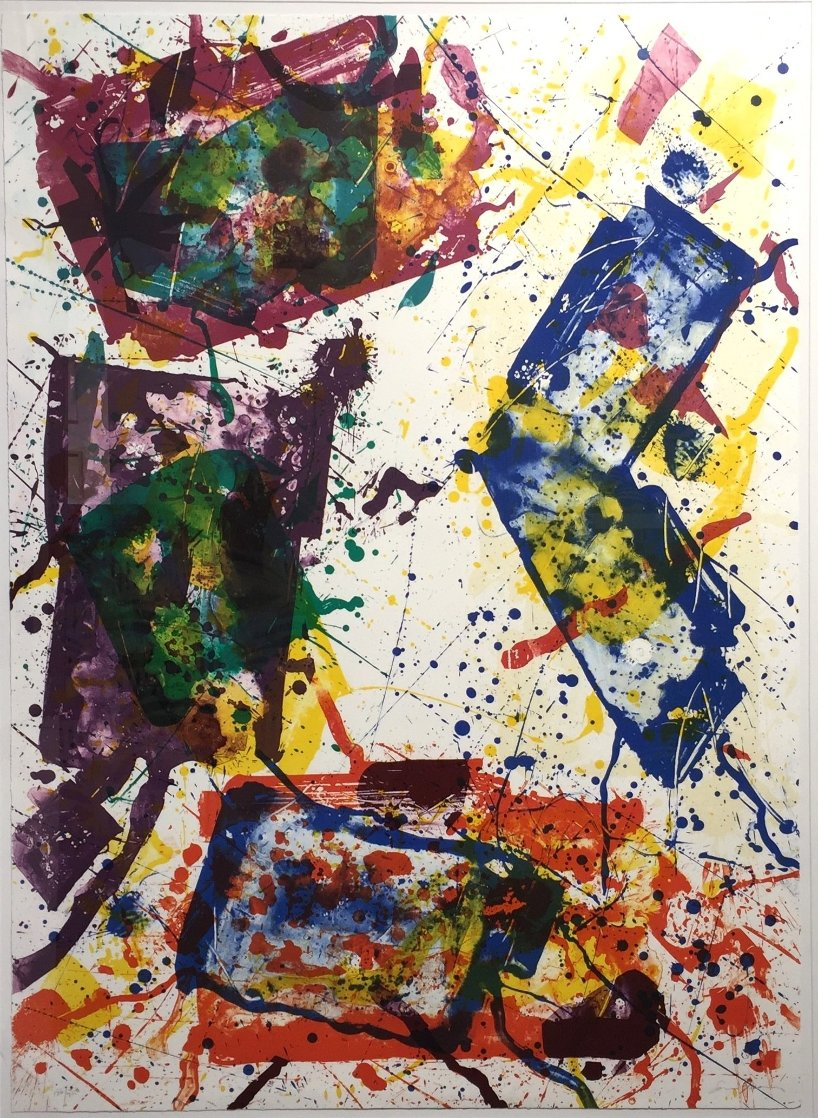 Untitled (Lembark 269) 1982 Super Huge Limited Edition Print by Sam Francis