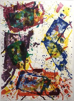 Untitled (Lembark 269) 1982 Super Huge Limited Edition Print - Sam Francis