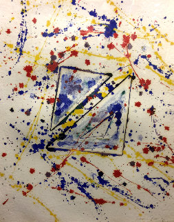 In Out and Of  Monoprint 1977 30x24 Works on Paper (not prints) - Sam Francis