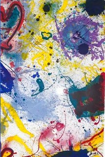 Untitled Lithograph 1992 Huge Limited Edition Print - Sam Francis