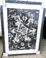 Untitled Star of David 1985 53x43 Huge  Limited Edition Print by Sam Francis - 3
