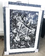 Untitled Star of David 1985 53x43 Huge  Limited Edition Print by Sam Francis - 2