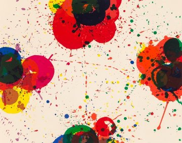 Red Again 1974 Limited Edition Print - Sam Francis