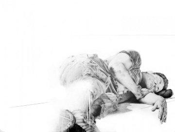 Sleep I 2007 38x50 Original Painting - Francisco Ferro
