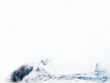 Sleep III 2007 38x50 Original Painting - Francisco Ferro