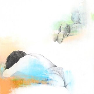Sleep and Dream  V  2012 37x37 Original Painting - Francisco Ferro