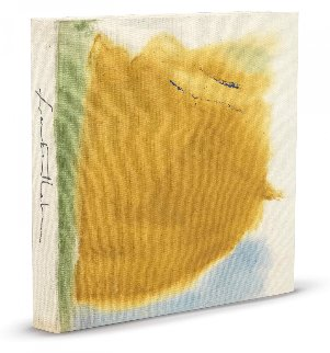 Painted Book Cover Unique 1971 11x11 Original Painting by Helen Frankenthaler