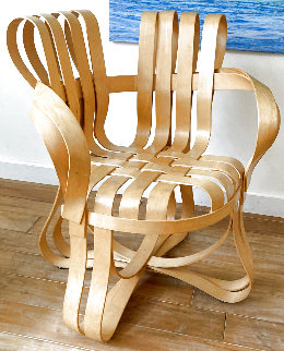 Gehry Cross Check Maple Wood Knoll Chair 1992 36 in Sculpture - Frank Gehry