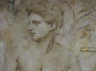 Untitled Grecian Man 36x44 Super Huge Original Painting by Richard Franklin - 2