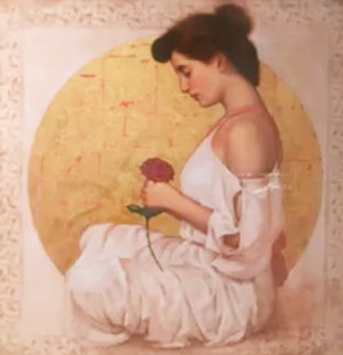 Mystic Rose 1990 Embellished Limited Edition Print - Richard Franklin
