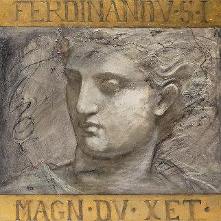 Ferdinand 1993 44x44 Huge Original Painting - Richard Franklin