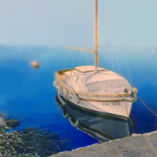 Tranquil Harbor 1992 Limited Edition Print by Frane Mlinar