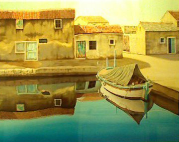Adriatic Village AP 1994 Limited Edition Print - Frane Mlinar