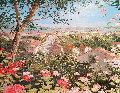 Little Southern Town, Roggieud Gravina, Italy 1988 25x29 Original Painting - Liliana Frasca