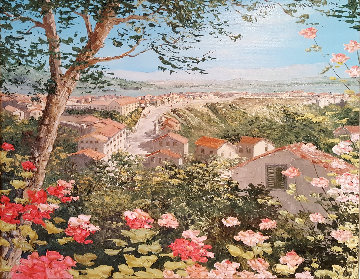 Little Southern Town, Roggieud Gravina, Italy 1988 25x29 Original Painting by Liliana Frasca
