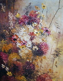 Fall Bouquet 1970 38x22 Original Painting - Liliana Frasca