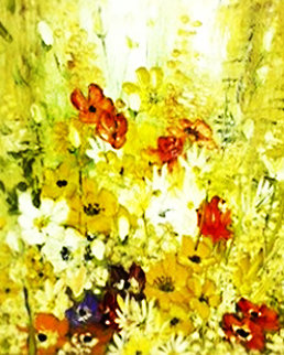 Petite Bouquet 1971 42x36 Huge Original Painting - Liliana Frasca