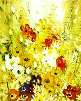 Petite Bouquet 1971 42x36 Original Painting by Liliana Frasca