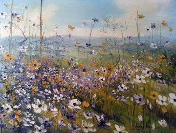 Primavera 1970 40x30 Huge Original Painting - Liliana Frasca