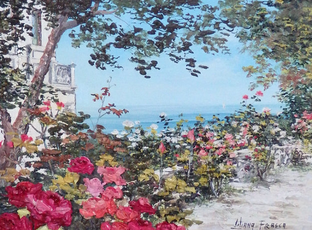 Sorento 17x21 Original Painting by Liliana Frasca