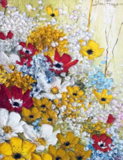 French Bouquet 1973 19x16  Original Painting - Liliana Frasca