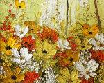 Printemps 1973 19x16 Original Painting - Liliana Frasca