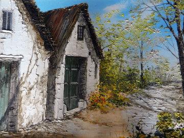 Canas Y Barros 1975 31x25 Original Painting - Liliana Frasca