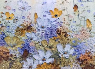 Happiness 17x14 Original Painting - Liliana Frasca