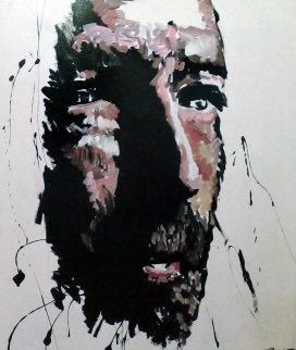 Eric Clapton 1995 36x31 Original Painting - George Frayne
