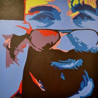 Jerry 2003 36x36 Original Painting - George Frayne
