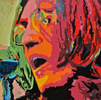 John Lennon 2009 36x36 Original Painting - George Frayne