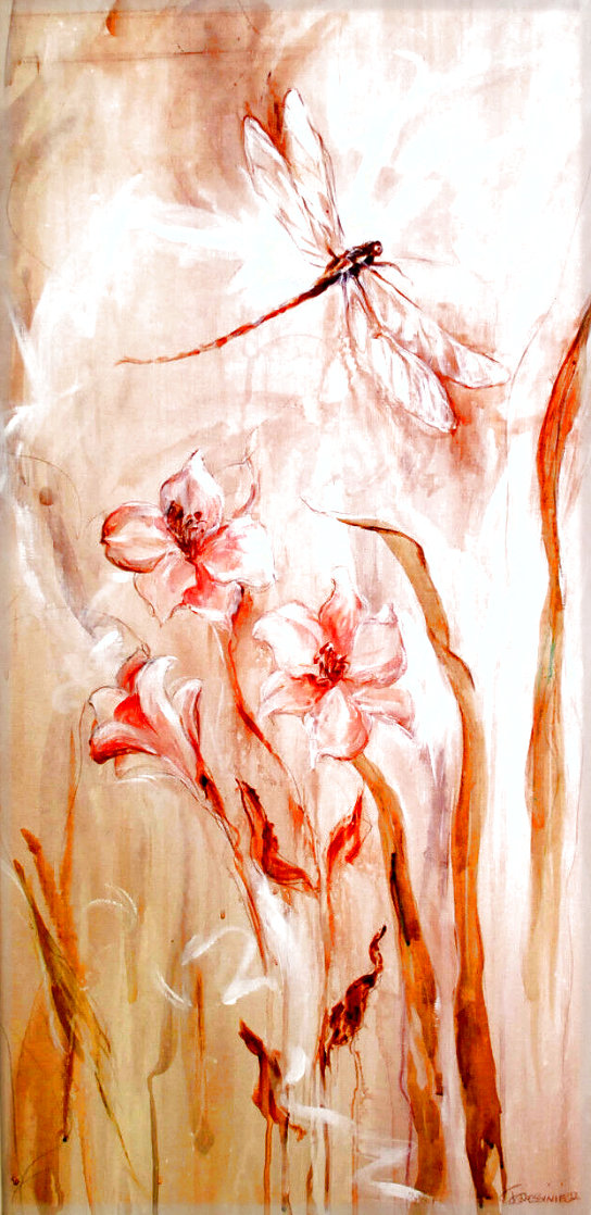 Moment With Nature IV 54x32 Huge Original Painting by Francois Fressinier