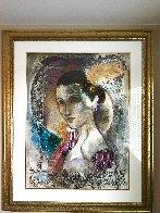 Femme Du Soir 67x55 Huge Original Painting by Francois Fressinier - 1