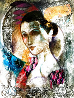 Femme Du Soir 67x55 Huge Original Painting by Francois Fressinier - 0