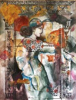 Tout Recommenceras 67x55 Huge Original Painting - Francois Fressinier