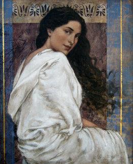 Celesti 2004 24x20 Original Painting - Francois Fressinier
