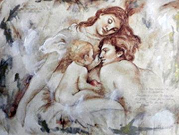Triptych: Sur La Terre, Revissament I and II 2000 58x59 Huge Original Painting - Francois Fressinier