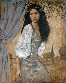 Buena Vista 2004 42x36 Original Painting - Francois Fressinier