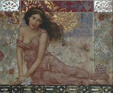 Je Pense a Toi 2004 36x32 Original Painting - Francois Fressinier