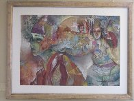 of the East 1993 40x56 Super Huge Original Painting by Francois Fressinier - 6