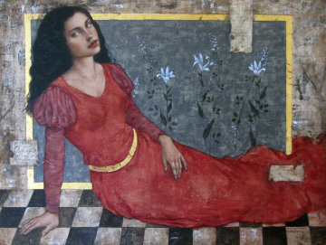 In Tempo 2004 40x49 Original Painting by Francois Fressinier