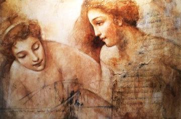 Le Bain 1997 46x48 Original Painting by Francois Fressinier