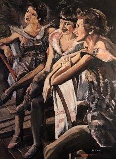 Performance 48x36 Original Painting - Ronald Fritkin