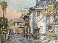Looking South on Aviles Street 1950  19x16 Original Painting by Emmett Fritz - 0