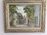 View South on Saint George Street  St. Augustine Fl 1950  21x16 Original Painting by Emmett Fritz - 1