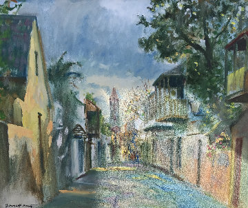 America's Oldest City  1994 27x31 Florida Original Painting - Emmett Fritz