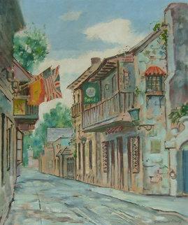 Untitled Florida Street Scene Original Painting by Emmett Fritz