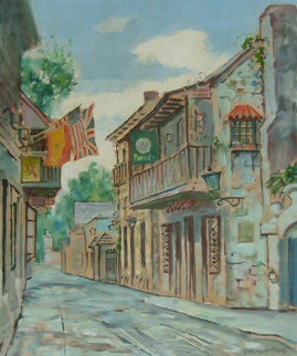 Untitled Florida Street Scene Original Painting - Emmett Fritz